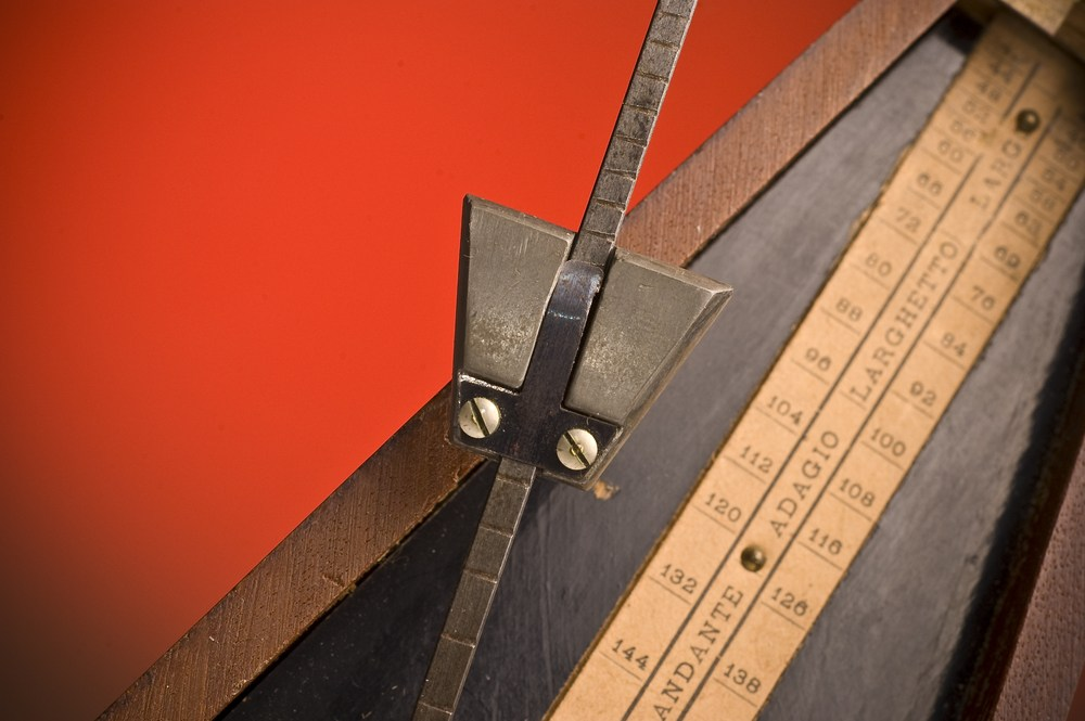 photo of old-fashioned mechanical metronome